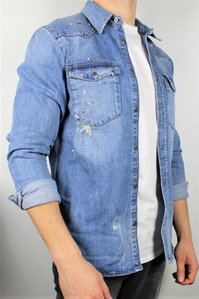 Hemd Jeans manhattan blue