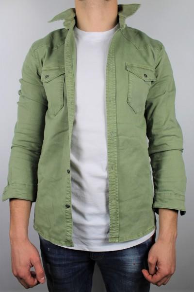 Jacke Hemd grass green