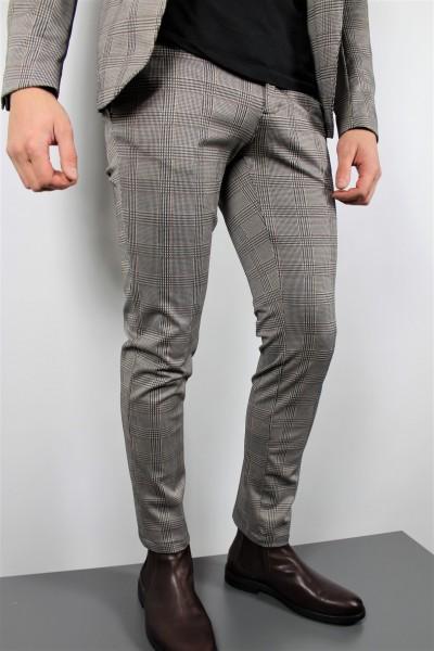 Hose Anzug karo/stretch grau