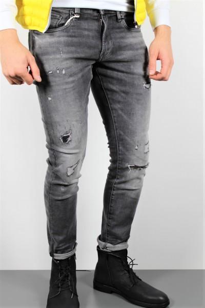 Jeans Skinny destroyed dunkelgrau