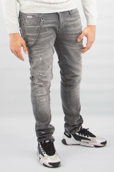 Jeans Tapered flecken grau
