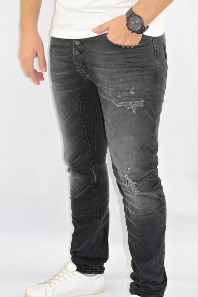 Jeans Taperd destr. schwarz